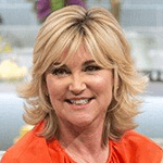 Picture of Anthea Turner,  UK TV host with flammable hair