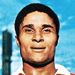 Picture of Eusebio Ferreira da Silva,  Top euro soccer scorer 1968 and 1973