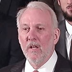 Picture of Gregg Popovich,  Head Coach, San Antonio Spurs