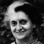 Picture of Indira Gandhi,  First Female Prime Minister of India