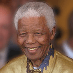 Picture of Nelson Mandela, He was the country's first black head of state