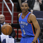 Picture of Russell Westbrook,  Oklahoma City Thunder point guard