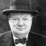 Picture of Winston Churchill, WWII Prime Minister of England