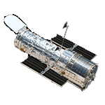 Picture of Hubble Space Telescope, one of the largest space telescope in low Earth orbit